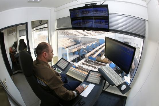 АО «Краслесинвест» проводит модернизацию процесса сортировки пиловочного сырья