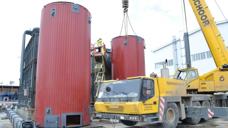 На пеллетном заводе Краслесинвест работает единственный за Уралом кран грузоподъёмностью 170 тонн